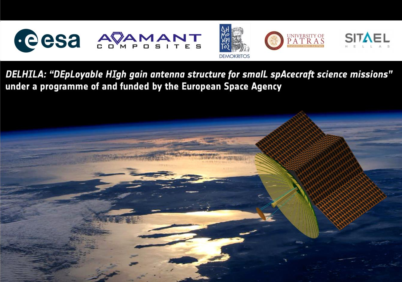 Greek Team Develops Deployable Antenna for Small Satellite Under European Space Agency Project